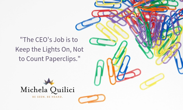 The CEO's Job Is…